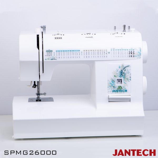 چرخ خیاطی جانتک مدل SPMG26000 با پایه و سوزن نخ کن